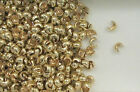 12K Gold Filled 3mm Crimp Covers, Choice of Lot Size & Quantity