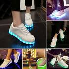 Adult Lights USB Charger Lace Up Luminous Shoes Sportswear Casual Sneakers