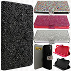 For HTC Desire 626 Premium Glitter Bling Diamond Wallet Case Pouch +Screen Guard