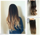 """110 Grams 20 """" Half Head Thick One Piece Clip in Hair Extensions Ombre Gift"""