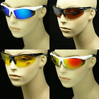 Sunglasses sport shield shoot run cycle bike new safety 100% uv 400 protection