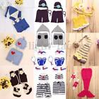 Newborn Baby Crochet Knit Costume Photo Photography Prop Hats Pants Outfits HOT