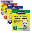 JOHNSONS ONE DOSE EASY DOG WORMER WORMING TABLETS ALL SIZES 1,2,3,4 UK SELLER