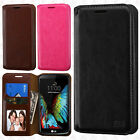 For LG K10 Premium Wallet Case Pouch Flap STAND Cover Accessory +Screen Guard