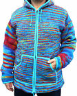 FAIR TRADE HIPPY BOHO WOLLE REGENBOGEN GEFÜTTERTE FLEECE-JACKE M L XL XXL