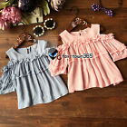 Summer Baby Girl Child Kids Princess Fold Edge Strapless Party T-Shirt Top 3-8Y