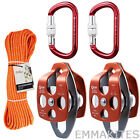 32kN / 7100lb Rigging Line Pulley Block Tackle System Car Boot Garage Working