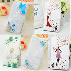 100% New Bling Crystal Leather Flip Wallet  Case Cover For iPhone Samsung S7