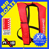 AXIS INFLATABLE LIFEJACKET -RED- 150N PFD1 OFFSHORE Manual Life Jacket FREE POST