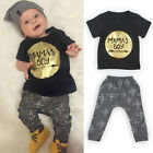 2PCS Newborn Toddler Infant Kid Baby Boy's Clothes T-shirt Tops+Pants Outfit Set