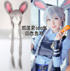 Crazy animal Bunny Rabbit Judi double twist has  anthropomorphic Cosplay wigs
