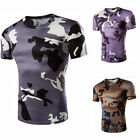 Fashion Mens Casual Camouflage Tactical Military Short Sleeve Army Camo T-Shirt