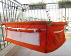 Hanging crib Cradle Bassinet - Orange - handmade and unique hammocks.