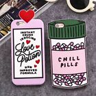 Love Letter Potion & Pills Pattern Soft Silicone Case Cover for iPhone & Samsung