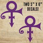 """Two 5"""" X 6"""" Prince Decals Vinyl Stickers 