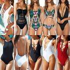 Sexy Women's Swimwear One Piece Swimsuit Monokini Push Up Padded Bikini S-2XL FO