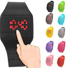 New Girls / Boys LED Silicone Touch Screen Ultra Thin Jelly Digital Sports Watch
