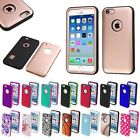 For Apple iPhone 6 6S ShockProof Protective Hybrid Dual Layer Cover Hard Case