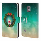 HEAD CASE DESIGNS HOLIDAY CANDLES LEATHER BOOK CASE FOR SAMSUNG GALAXY S5 MINI