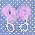 Fashion Baby Kids Foot Flower Feather Pearl Barefoot Toddler Beach Sandals Shoes