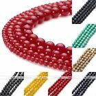 4,6,8,10mm Round Black Natural Agate Turquoise Jade Stone Charm Loose Beads