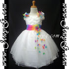 #RBW5 Baby Infant Girls Graduation Birthday Party Church Night Sun Summer Dress