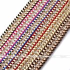 Cotton Weave Braided Golden Metal Crystal Lobster Clasp Chain Bracelet Cuff Gift