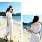 Sexy Women's Fashion Boho Beach Summer Maxi Long Two-piece Set Skirt Dresses LJ