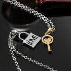 AgentX Stainless Steel Lover Couple Pendant Necklace Key&Lock Jewelry Chain 2PCS