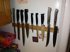 Magnetic Knife Rack, Maple, Wall Mounted Or Refrigerator