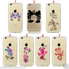 Cartoon Fan Art Design Mickey Minnie Mouse iPhone Transparent Clear Case Cover