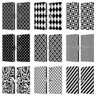 HEAD CASE DESIGNS BLACK AND WHITE PATTERNS LEATHER BOOK CASE FOR HUAWEI P8LITE