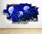 A269 Jelly Fish Aquarium Ocean Sea Coral Wall Decal Poster 3D Art Stickers Vinyl