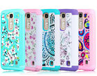 For LG K7 / Tribute 5 Dual Layer Rugged Hybrid Soft Rubber Hard Phone Case Cover