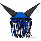 Aerborn Horse Fly Fringe Halter Veil With Ears Protection Mask Pony Cob Blue