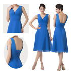 Promotions~~Womens Dress V Neck Chiffon Ball Cocktail Evening Dress Prom Party