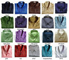 Mens Thai Silk Shirts Plain Short Sleeve S M L XL 2XL 3XL Casual Dress 20 Colors