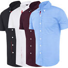 Mens Luxury Shirt Top Slim Fit Stylish Casual Short Sleeve Casual Dress Shirts
