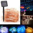 Outdoor 10m 33ft 100LED Solar Power Fairy String Lights Waterproof Garden Party