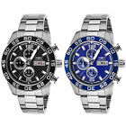 Invicta Men's Specialty SS Chronograph Watch with Carbon Fiber Dial