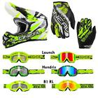 O'Neal 3 Series Shocker Neon Gelb Combo Set Cross MX DH Helm Brille Handschuhe