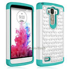 For Samsung Galaxy Core Prime G3608 Case Hybrid Bling Crystal Armor Phone Cover