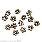 GB Wholesale  Acrylic Beads Flower Shape Brass Tone Bronze For Necklace Bracelet