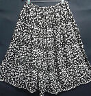 LADIES PLUS SIZE SKIRT classic black/white HANDMADE IN UK size 30 32 34 36 38 40