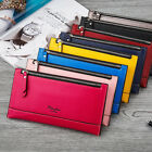 lady pu leather money clip clutch credit card purse multifunction long wallet