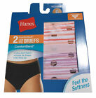 Hanes ComfortSoft Women's 2-Pack Low Rise Briefs Full Coverage Tagless New