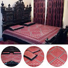 100% COTTON AJRAK HAND BLOCK PRINTED BEDSHEET ANTIQUE QUILTS BEDDING QUEEN SIZE