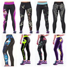 Womens Exercise Sport Gym Leggings Yoga Jogging Running High Waist Pants PLUS