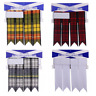 More images of 100% Acrylic Wool Various Tartans Tartan Kilt Hose Flashes with Garters