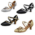 Brand New Women's Latin Dance Shoes Ballroom Tango Heeled Salsa Daning Shoes